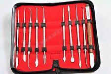 German Stainless Dental Lab Equipment Dental Kit Wax Carving Tool Set