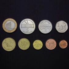 [M-1] Mozambique Set 9 Coins, 1+5+10+20+50 Cents+1+2+5+10 Meticais, 2006, Unc
