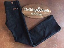 7 For all Man Kind Women's Black Corduroy Jeans Boot Cut  Sz. 26 Cotton Blend