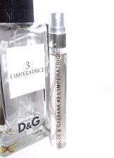 Dolce & Gabbana D&G # 3 L'Imperatrice 10ml Eau de Toilette SAMPLE EDT 0.33 oz
