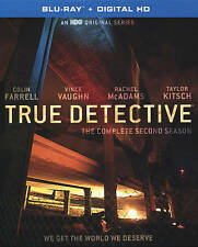True Detective: The Complete Second Season (Blu-ray Disc, 2016, 3-Disc Set) NEW