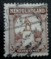 Newfoundland:1923 Local Motives 3C Rare & Collectible Stamp.