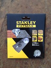Stanley Fatmax Diamond Cutting Disc 115mm for Stone, Brick and Concrete