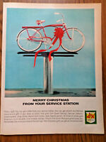1964 Murray Bikes Bicycles Ad Merry Christmas from Your Service Station
