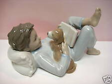 SHALL I READ YOU A STORY BOY AND DOG BY LLADRO  #8034