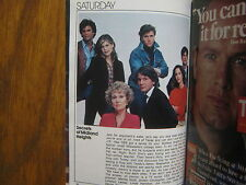 1980 TV Guide(FALL PREVIEW/SECRETS  OF MIDLAND  HEIGHTS/TOO CLOSE  FOR  COMFORT)