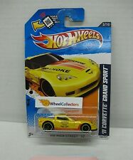 '11 Corvette Grand Sport #162 YELLOW Toys R Us Only * Hot Wheels 2012 * B13
