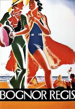 Art Ad Classy Chic Bognor Regis Train Rail Travel  Poster Print