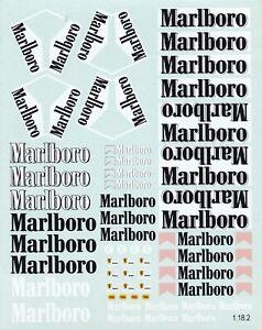 Carpena decals for cars 1/18 - Marlboro  (Ref 1-18-2)