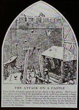 12th Century Attack on a Castle,England,T.C. Barfield, Magic Lantern Glass Slide