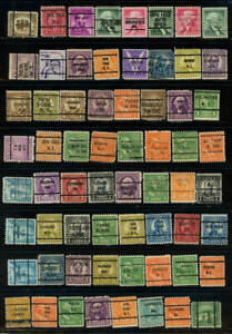 Large lot 64 precanceled U S Stamps as shown (18S)