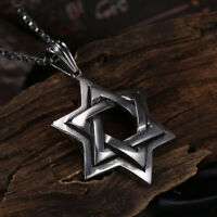 18K White Gold Plated Jewish Star of David Charm with Necklace
