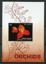 Union Island Grenadines St Vincent 2011 MNH Orchids 1v S/S II Flowers Stamps