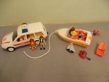 Playmobil lote mixto incluye 1 coche ambulancia lancha rápida, 1 y 7 figuras