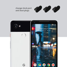 3 x Black Anti Dust Plug charger dock port for lightning For Google Pixel 2 XL