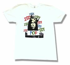 Iggy Pop Is King Crown Pic Image White T Shirt Large New Official Soft
