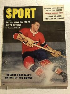 1959 Sport Magazine MONTREAL CANADIANS Maurice RICHARD Have To Make Me RETIRE