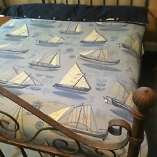 Eastern Accents Twin sized 75% down comforter with duvet cover. Euc