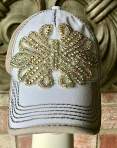 NWT Bling AB Crystal 2 Tone Baseball Hat by Olive & Pique