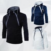 Sweater Warm Sweatshirt Men's Slim Hooded Hoodies Winter Outwear Coat Fit Jacket