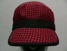 negro y Rojo Diseño 'Pata De Gallo' - Talla Única Ajuste Elástico Cadete Estilo