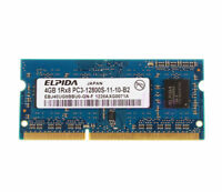 Elpida 4GB 1Rx8 PC3 12800S DDR3 1600Mhz CL11 SO-DIMM NON-ECC RAM Laptop Memory #