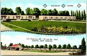 CLOVIS, New Mexico ROUTE 66 Roadside Postcard DIAMOND L MOTEL Kropp Linen c1950s