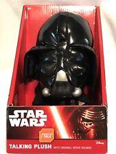 "Underground Toys Star Wars 9"" Talking Plush Disney Character - Darth Vader"