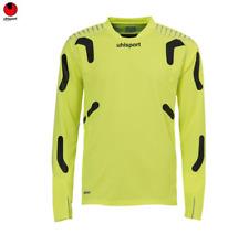 New Uhlsport TorwartTechnik GK Top Soccer Pro Goalkeeper Jersey NEON YELLOW XL