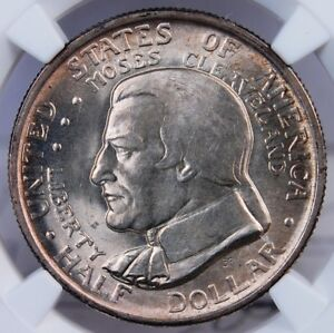 1936 CLEVELAND COMMEMORATIVE HALF DOLLAR NGC MS 63 EXCELLENT SILVERY LUSTER
