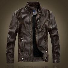 Men's Genuine Lambskin Leather Jacket Black Slim fit Biker Motorcycle jacket