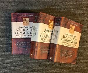 VOL 1,2,3 Jon Courson's Application Commentary New Testament in VG Condition