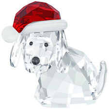 Swarovski Christmas 5060449 Dog with Santa's Hat Authentic NIB