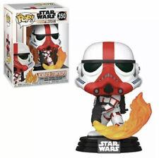 Funko Pop Star Wars The Mandalorian Incinerator Stormtrooper With Protector Mint