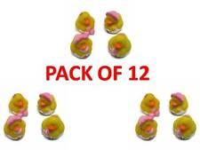 Set of 12 Mini Ducks Baby Girl Rubber Ducks Duck Baby Shower Bath Toy Floating