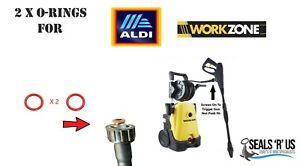 Aldi Workzone Pressure Washer Screw on Hose Male End 2 O-Ring Rubber Seals