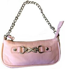 Ladies Womans Pink Genuine Real Soft Leather Fashion Party College Handbag