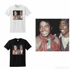 Michael Jackson and Tupac T-shirt Regular Size S-3XL