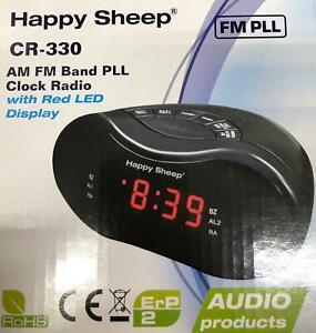 RADIO SVEGLIA OROLOGIO DIGITALE HAPPY SHEEP CR-330 FM DISPLAY A LED ROSSO 220V