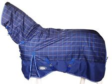 !!CLEARANCE!! AXIOM 1200D TARTAN BLUE/YELLOW/NAVY 300gm PADDOCK HORSE COMBO 5' 6