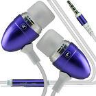 Paquete Doble Púrpura Manos Libres Auriculares Con Micrófono Para Huawei Mate S