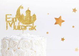 Eid Mubarak Cake Topper Ramadan Islam Party Eid Al Adha Cake Decoration