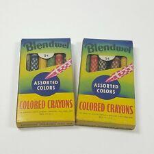 1940s Vintage Blendwel Color Crayons