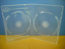 (Free P&H) Double 200 Clear 14mm CD / DVD Cases Quality Std Size DVD Case Cover