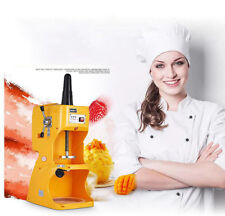 Commercial Automatic Electric Ice Crusher Shaver Snow Cone Maker Machine AC 220V