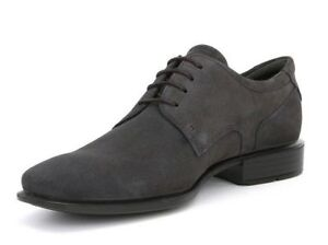 ECCO MEN'S CAIRO, CASUAL OXFORD SHOE, MOONLESS(GREY) SIZE 44-10.10.5 NEW IN BOX
