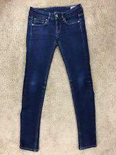 G Star Raw 3301 Skinny Womens 25x30 Blue Stretch Denim Jeans