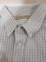 R M WILLIAMS ~ Mens  Size   3XL, Long Sleeve Shirt, White Blue Check.