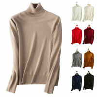 Turtleneck Elasticity Women's Slim cozy Cashmere Knitted Sweater Pullover Jumper