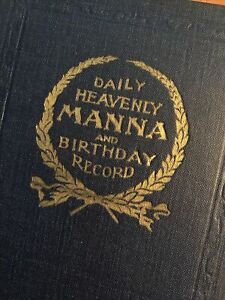 Watchtower Daily Heavenly Manna & Birthday Record I.B.S.A. (1925)